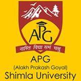 apg-shimla-university